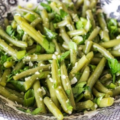 Romanian Garlic Green Beans Salad