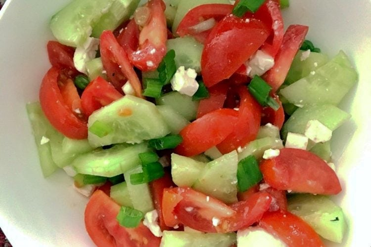 Tomato Cucumbers Feta Salad Recipe