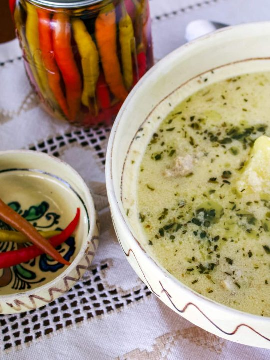 Traditional Saxon Potato Tarragon Soup From Transylvania 1