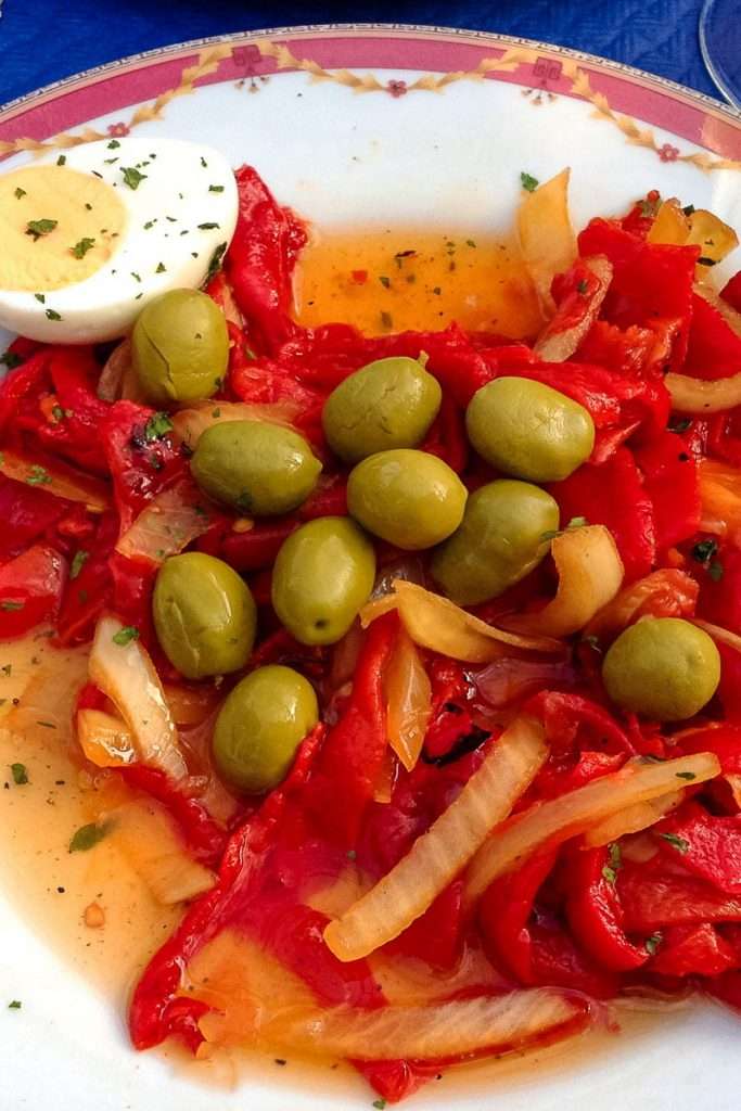 spanish roasted pepper salad- featured picture