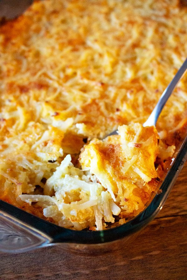 Cheesy potatoes are a staple for holidays potlucks, funeral and parties in the Midwest. Found on every table especially during Thanksgiving, Christmas or Easter, this recipe is easy to make, delicious and comforting.