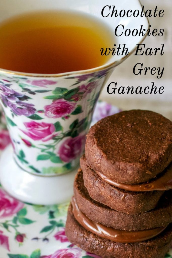 Chocolate Cookies with Earl Grey Ganache- featured picture for Pinterest