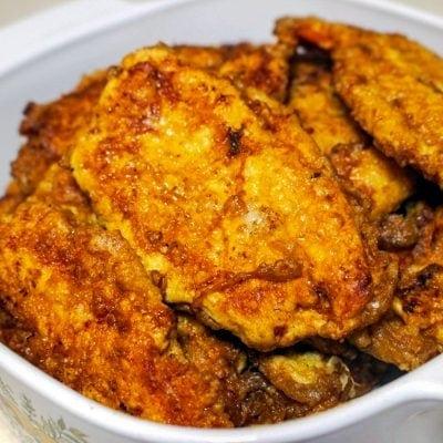 Easy Chicken Breast Schnitzel- French Style