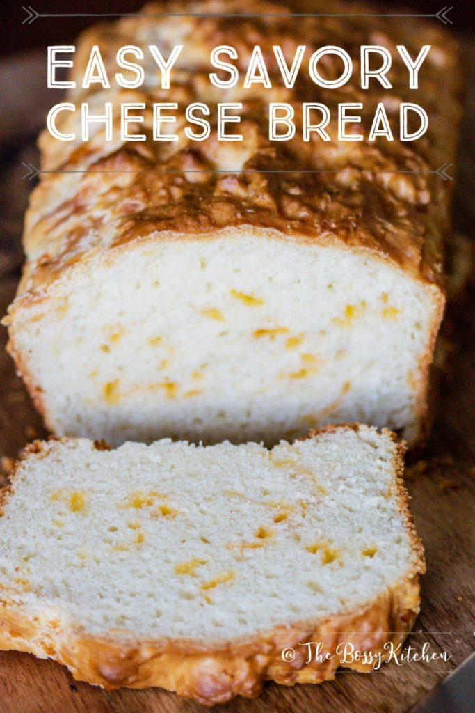 Easy Savory Cheese Bread -featured picture for Pinterest