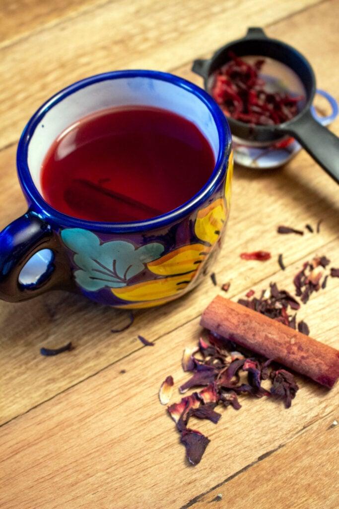HIBISCUS CINNAMON TEA TE DE JAMAICA Y CANELA0