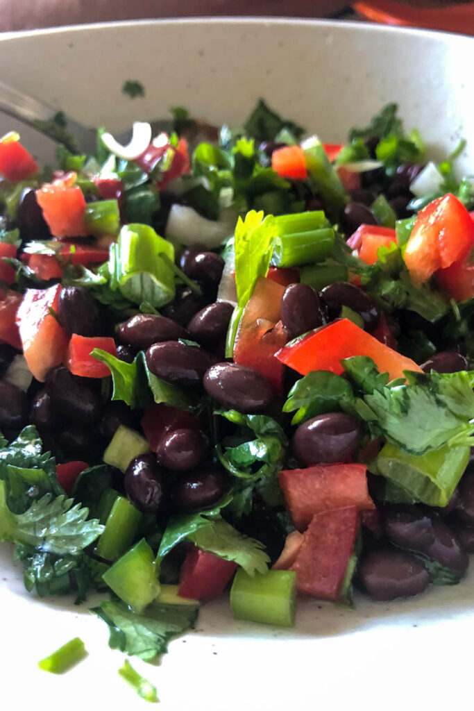Mexican Beans Salad with black beans0