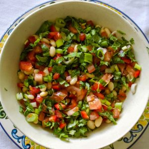 Mexican Pinto Bean Salad with Jalapeno pepper