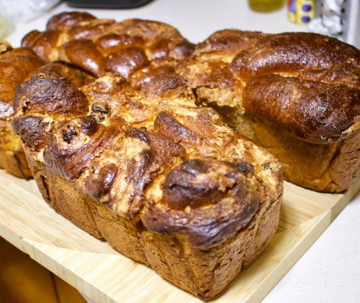 Romanian Traditional Sweet Bread With Walnuts- Cozonac