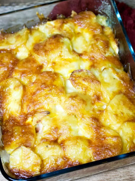 Scalloped Potatoes with Hard Boiled Eggs 1