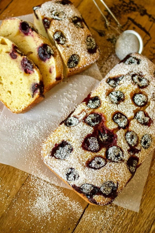 Sour Cherries Sweet Cornbread- featured picture for Pinterest