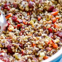 Vegetarian Wild Rice And Mushroom Stuffing