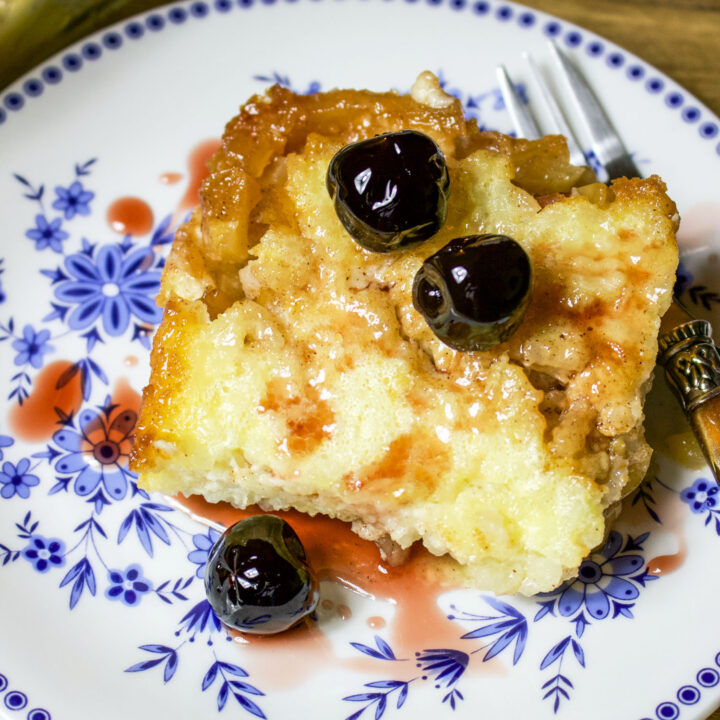 Baked Rice Apple Pudding square picture0