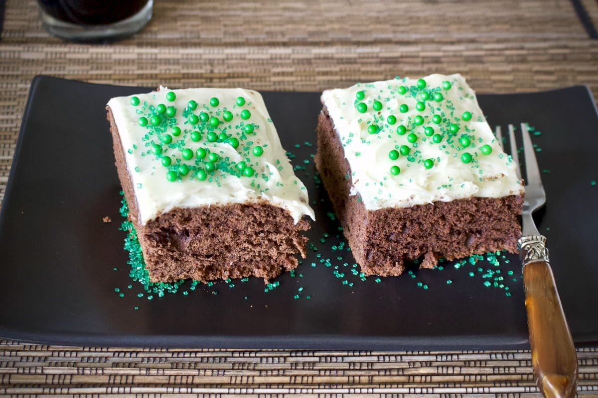 Chocolate Guinness Stout Cake With Cream Cheese Frosting