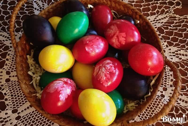 Easter eggs- horizontal photo