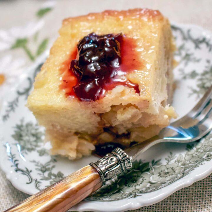 Romanian Apple Rice Pudding