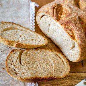 Whey Bread Recipe With Sprouted Spelt is a beautiful bread made with leftover whey from making cheese. The crust is soft, the bread has a lot of flavor and keeps well for few days. It is a delicious bread that is relatively easy to make, especially if you have a stand-up mixer. Enjoy!
