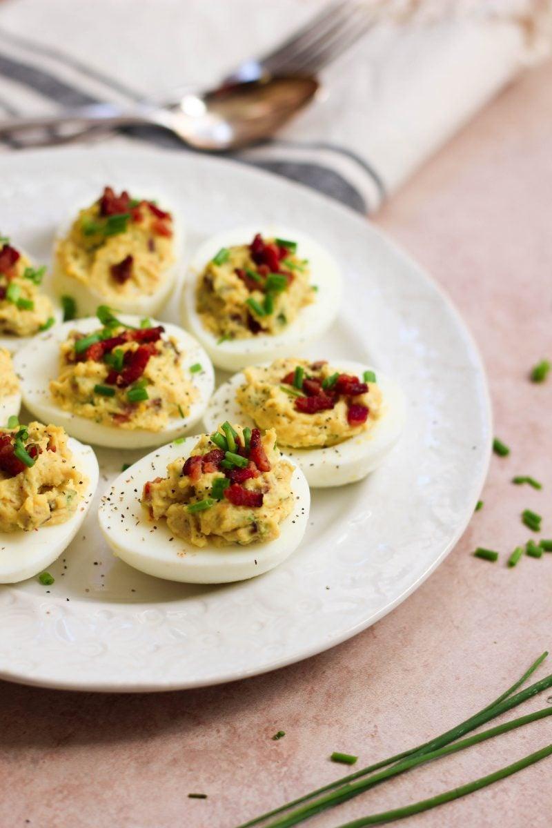 Paleo Bacon Ranch Deviled Eggs-2