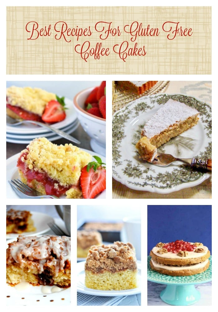 Best Recipes For Gluten Free Coffee Cakes-This is a round-up of gluten free coffee cakes from around the web, created by your favorite bloggers.