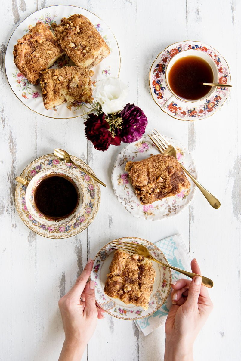 Best Sour Cream Coffee Cake Recipe with Cinnamon Streusel
