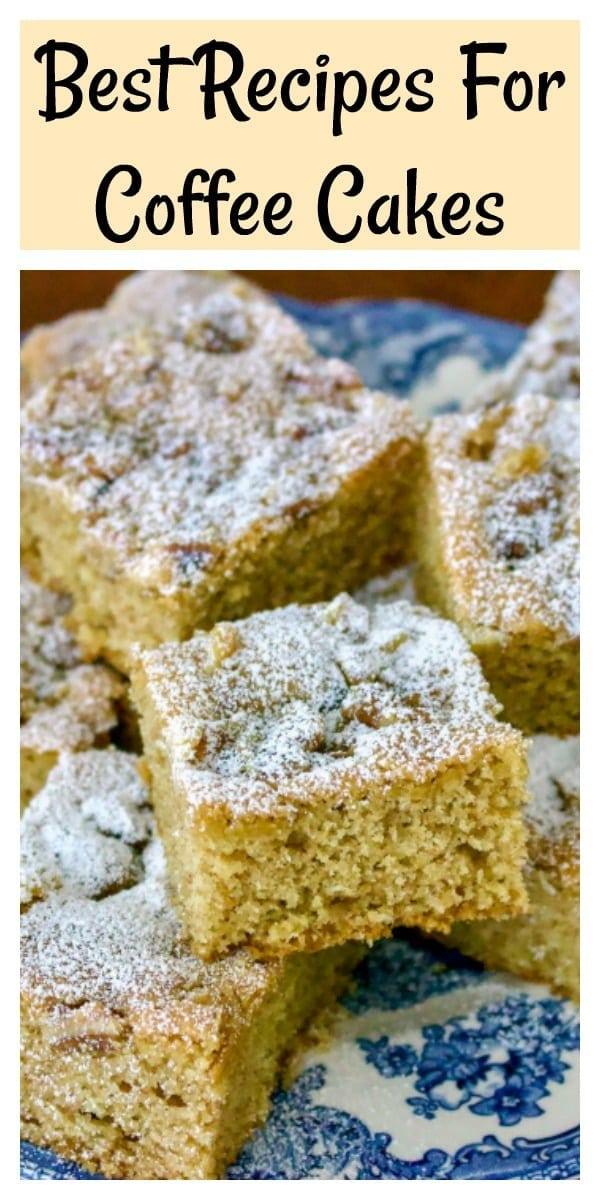 Best recipes for coffee cake- featured picture for Pinterest