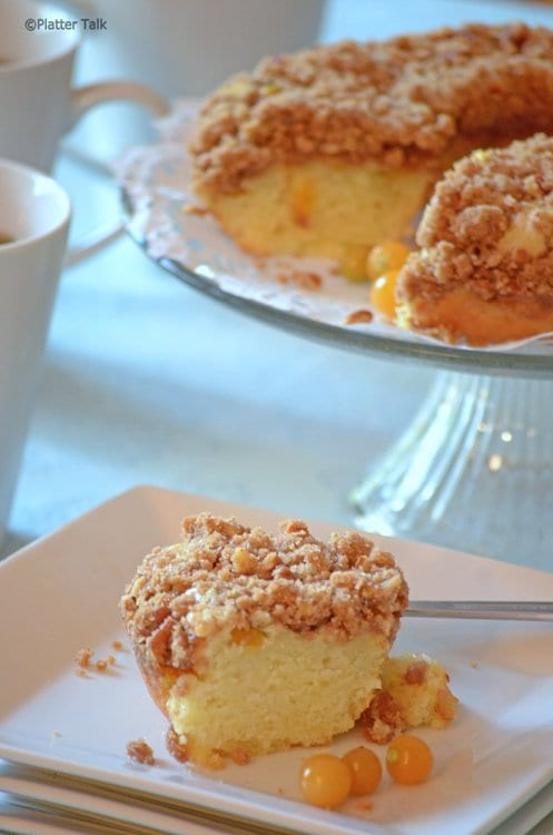 Ground cherry coffee cake recipe