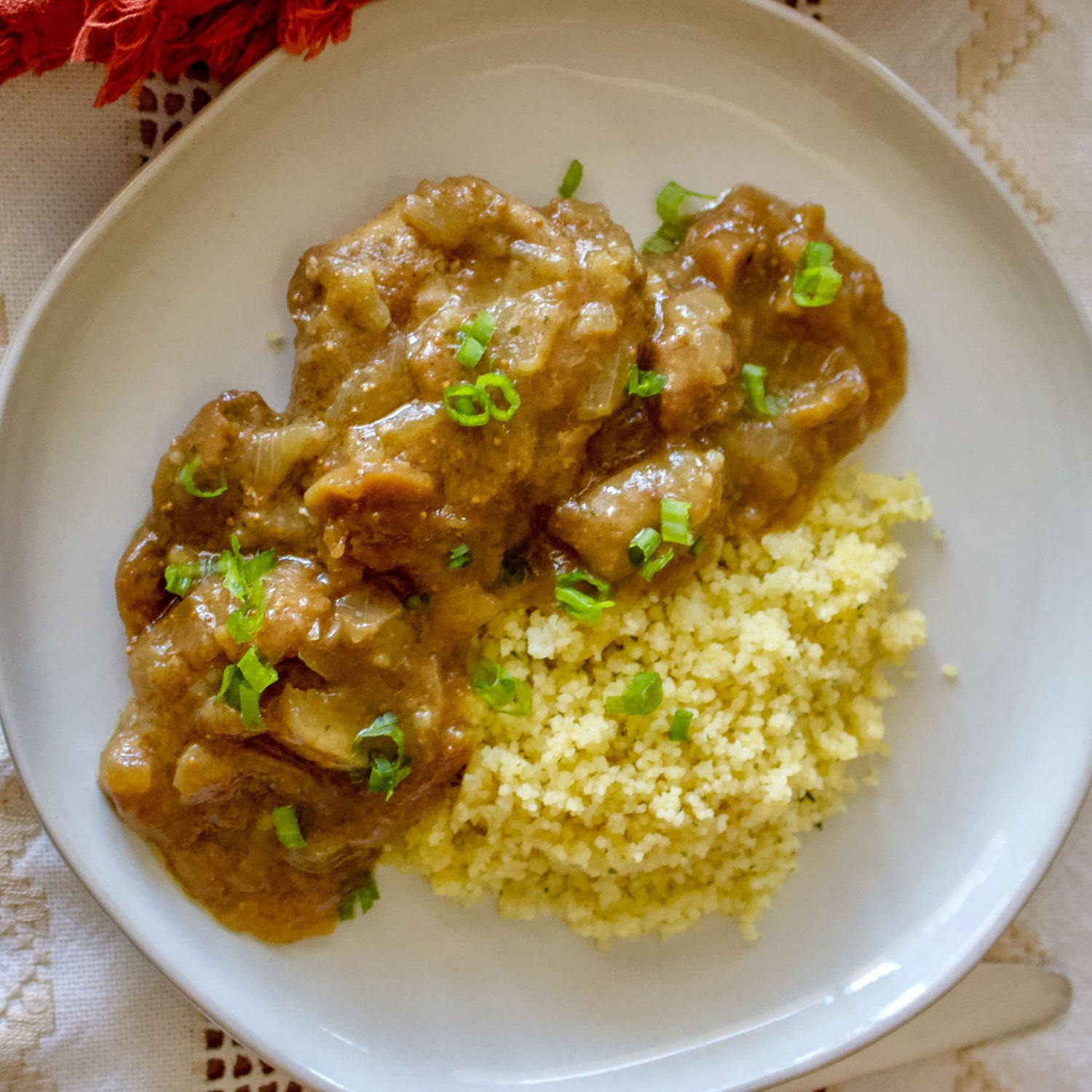 Moroccan Chicken with Figs And Couscous-This recipe of Moroccan Chicken with Figs and Couscous is a beautiful recipe that can be made any day of the week, but it could also be a wonderful dish to serve when you have company. Healthy and delicious, the recipe is loaded with spices that bring a lot of flavor to the dish.