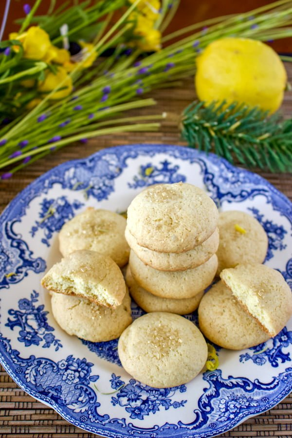 Olive Oil Lemon Cookies With Herbs- a wonderful recipe to make when you have a sweet tooth. An easy recipe, that is made with olive oil and rosemary, thyme or basil, which go really well with lemon.