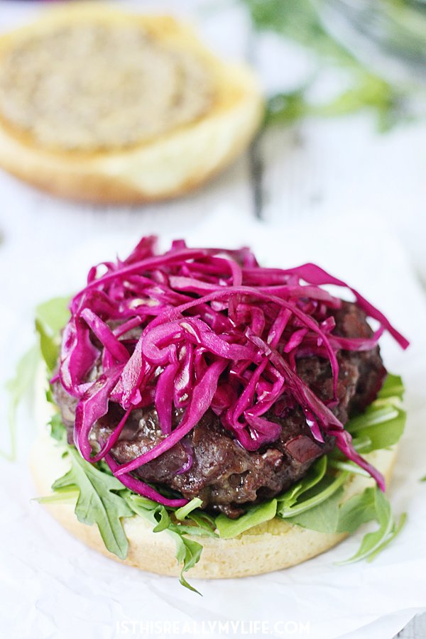 Irish Corned Beef and Cheddar Burgers - Corned beef and cheddar burgers combine ground beef with corned beef and sharp white cheddar cheese for one of the tastiest burgers you will ever grill! | halfscratched.com
