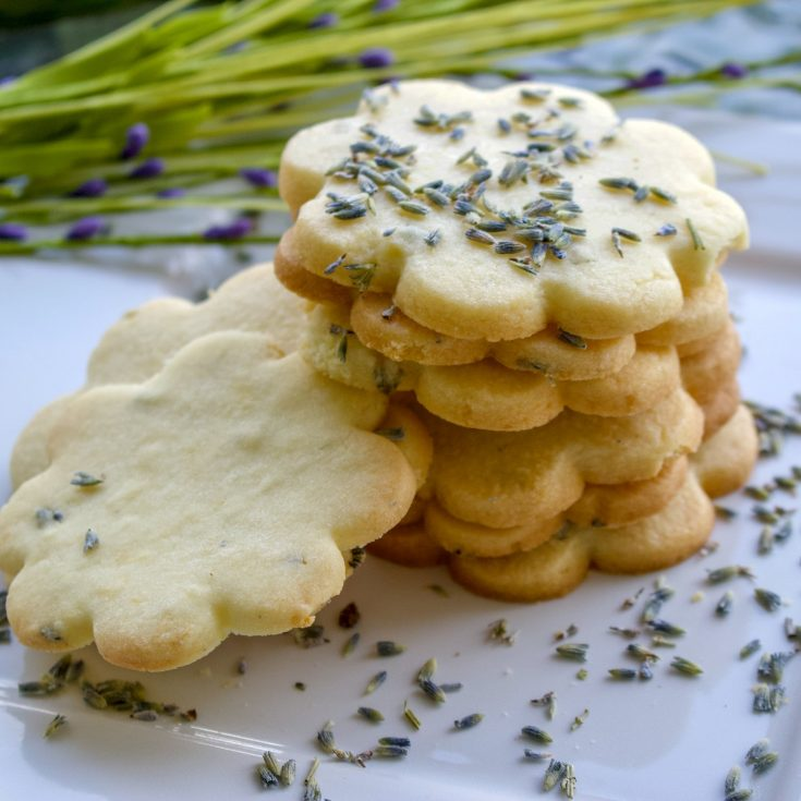 Lemon Lavender Butter Cookies