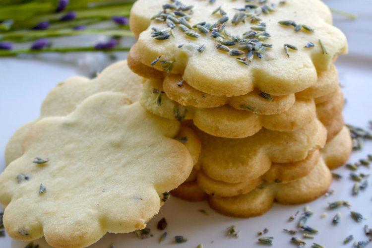 Lemon Lavender Butter Cookies