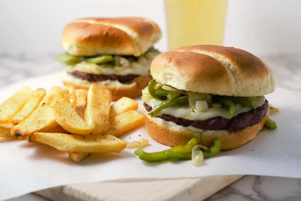 Philly Cheesesteak Burgers