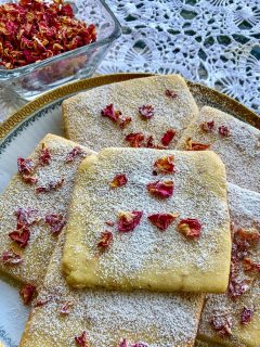 Rose Petals Butter Cookies
