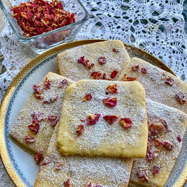 Rose Petals Butter Cookies