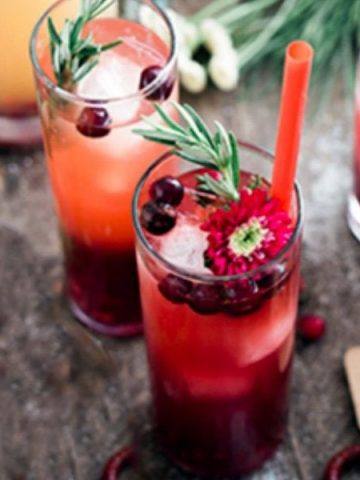 Cherry Flavored Drinks Cocktails Smoothies
