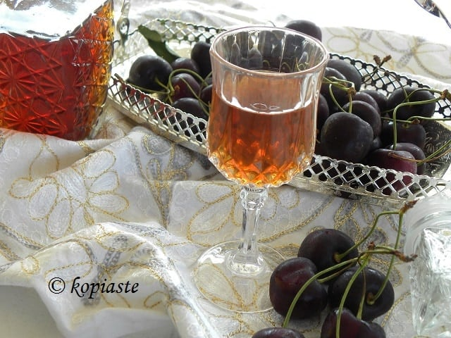 Cherry Pit Liqueur served image