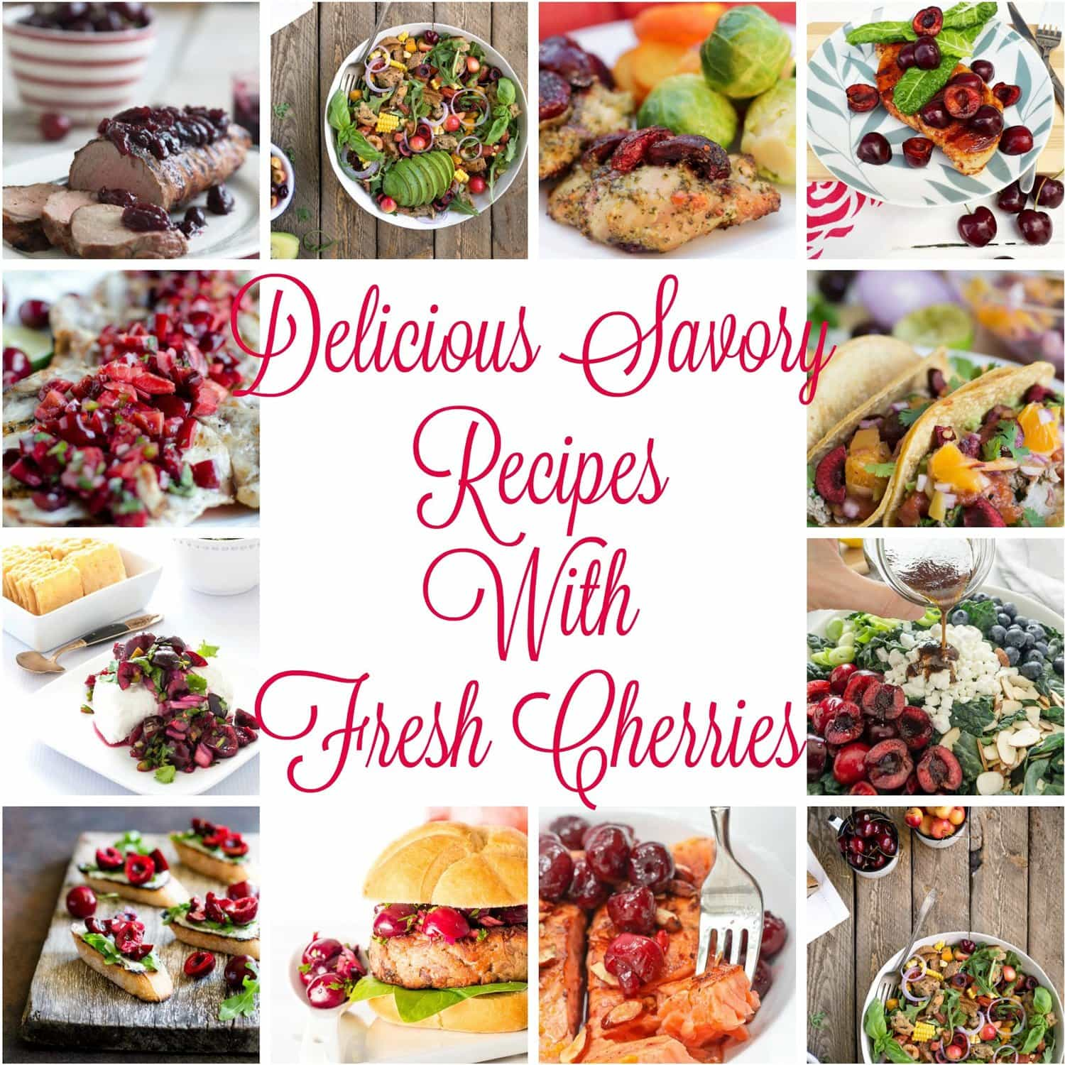 Delicious Savory Recipes With Fresh Cherries