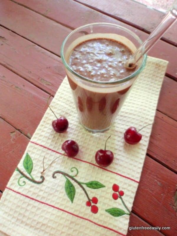 Chocolate Cherry Milkshake--like a Chocolate Cherry Frosty! Naturally gluten free and dairy free. [from GlutenFreeEasily.com]