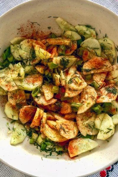 Best Cucumber Salad- Transylvania Style