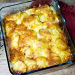 Scalloped Potatoes with Hard Boiled Eggs