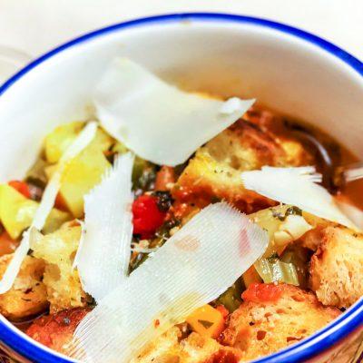 Italian Ribollita Soup With Ground Pork
