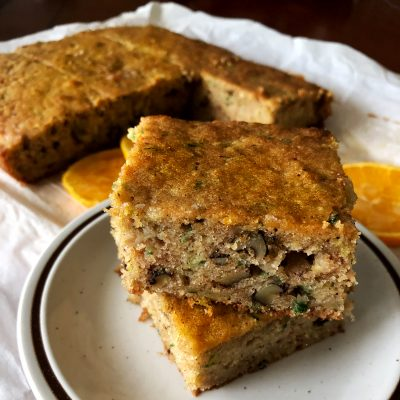 Zucchini Orange And Walnuts Cake