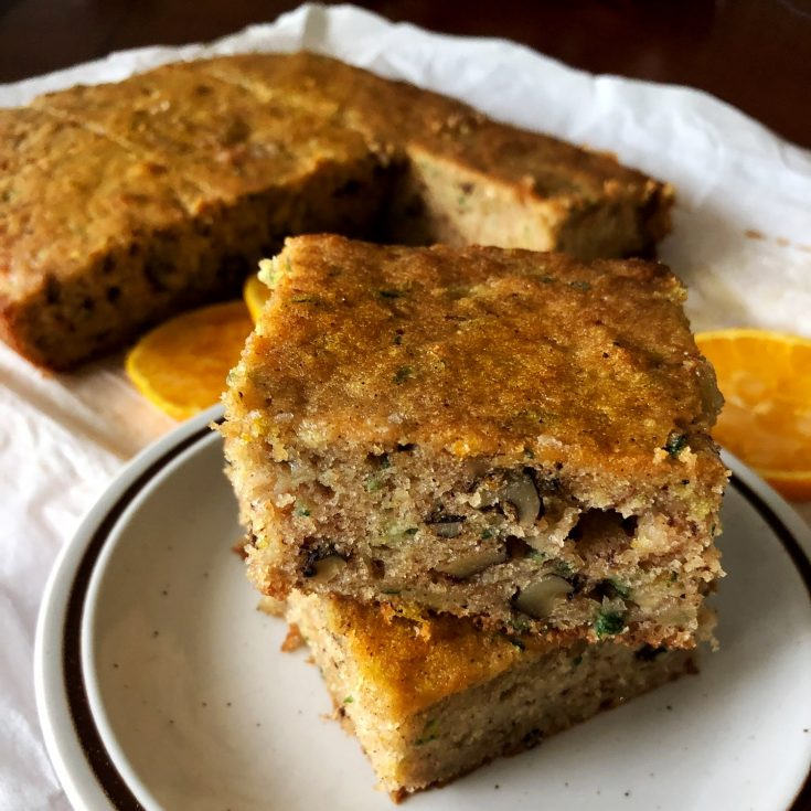 Zucchini Orange And Walnuts Cake