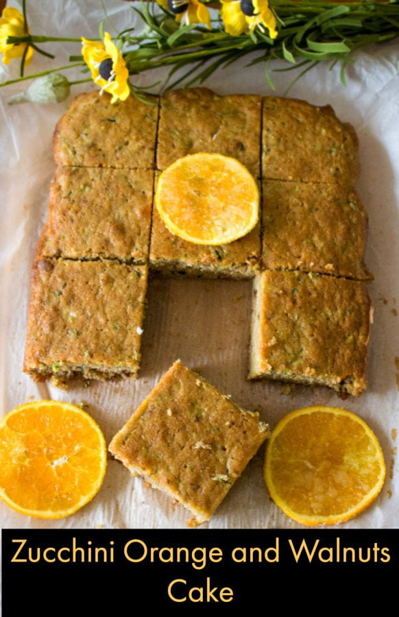 Zucchini Orange And Walnuts Cake Pinterest1