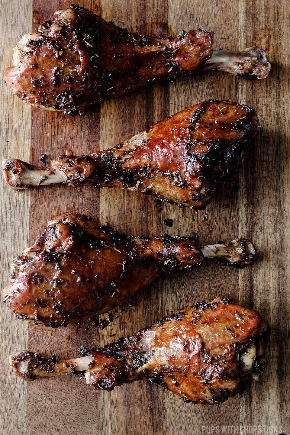 Juicy Herb Roasted Turkey Legs Recipe