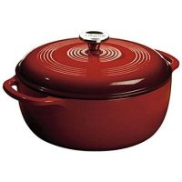 Lodge 6 Quart Enameled Cast Iron Dutch Oven.