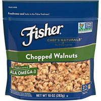 FISHER Chef's Naturals Chopped Walnuts, No Preservatives, Non-GMO, 10 oz