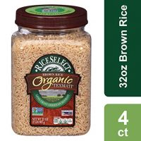 RiceSelect Organic Texmati Rice, Brown, 32-Ounce