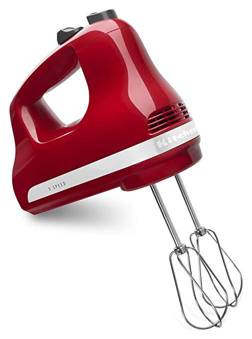 KitchenAid KHM512ER 5-Speed Ultra Power Hand Mixer, Empire Red