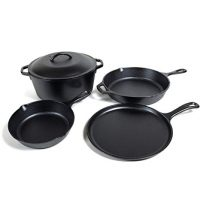 Lodge Seasoned Cast Iron 5 Piece Bundle.