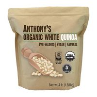 White Whole Grain Quinoa, 4lbs, Organic by Anthony's - Gluten Free & Non GMO